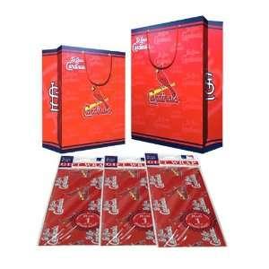 Saint Louis Cardinals MLB Gift Bags (2 Large,1 Medium) & Flat Gift