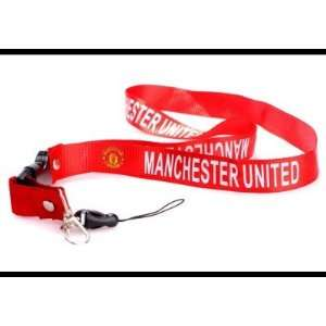Soccer Manchester United RED Team Lanyard Mobile Phone