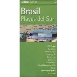 Guia Mapa Brasil Playas del Sur (Spanish Edition