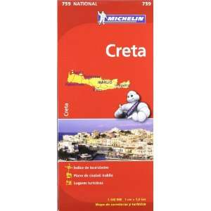 Creta. Mapa National 759 (9782067173231) Michelín Books