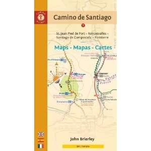 Camino de Saniago Maps   Mapas   Cares S. Jean Pied de
