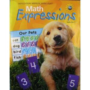 Math Expressions Student Activity Book Level K Houghton Mifflin Math