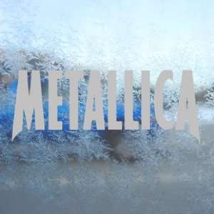 Metallica Gray Decal Metal Rock Band Truck Window Gray