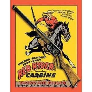 Outdoor Daisy Guns Red Ryder Metal Tin Sign Carbine