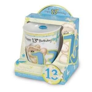 Fizzy Moon Mug & Fridge Magnet   Happy 13th Birthday