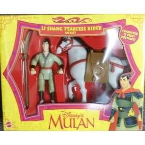 Disney Mulan Li Shang Fearless Rider Giftset   RARE