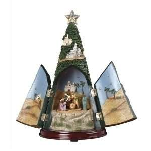 Musical Lighted LED Nativity Christmas Tree Figure