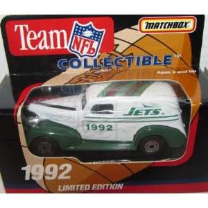 New York Jets 1992 NFL Diecast Sedan 163 Scale Collectible Limited