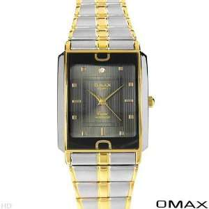 Omax Quartz WaterProof Men Watches Two Tone Gold N Silver