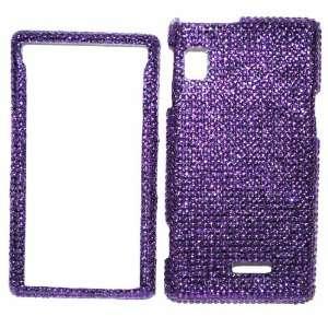 New Purple Sparkling Rhinestones Full Diamond Bling