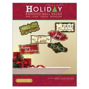 Greetings, Vinyl Christmas Peel and Stick Instant Wall Sticker Decals