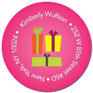 & Spark Return Address Labels (Xmas Gifts   Pink)