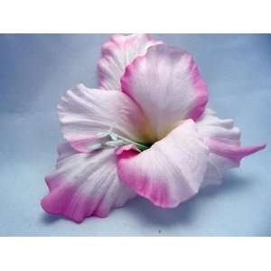 Light Pink Real Touch Day Lily Hair Flower Clip