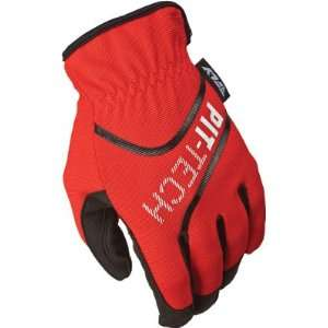 Fly Racing Pit Tech Lite Mechanics Gloves Red 13