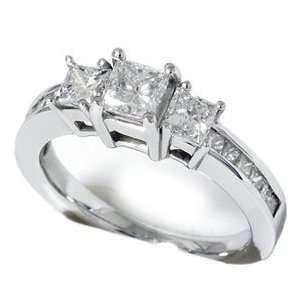 1.50CT Princess Cut Diamond White Gold Ring 14k Gold