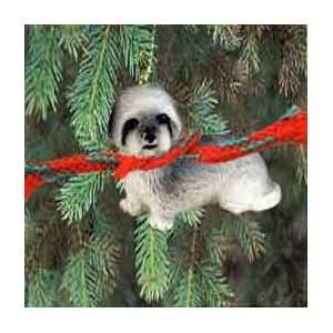 Lhasa Apso Puppy Cut Miniature Dog Ornament Gray: Home