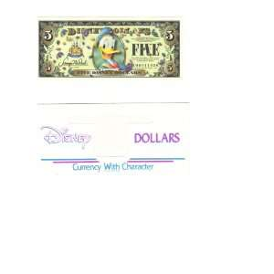 Mint $5 Donald Disney Dollar 2005: Everything Else