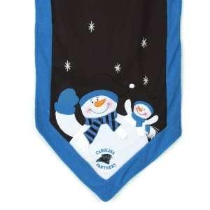 6 NFL Carolina Panthers Snowman Christmas Table Runner