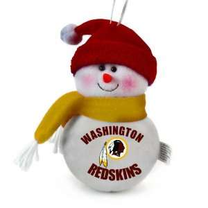 Pack of 3 NFL Washington Redskins Plush Snowman Christmas