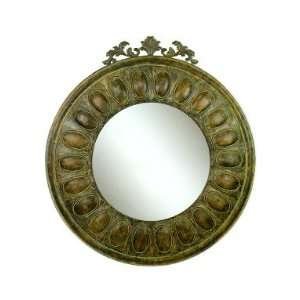Metal Wall Mirror with Bronze Finish, 56 Inches Tall