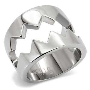 Stainless Steel Trap Cocktail Ring SZ 5 Jewelry