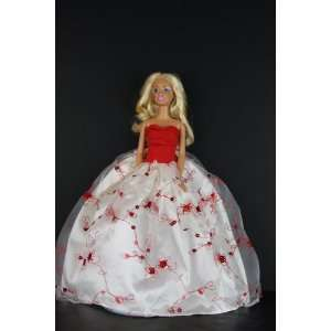 with Red Accents and Sequins Made to Fit the Barbie Doll Toys & Games