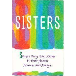 Sister Birthday Greeting Card   Sisters Carry Each Other