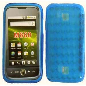 For Huawei Ascend M860 TPU Skin Case Cover Protector Blue