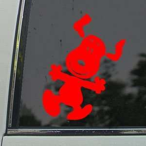 Snoopy Red Decal Peanuts Car Truck Bumper Window Red
