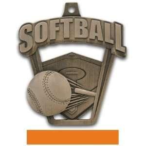 Custom Hasty Awards 2.5 Prosport Softball Medals BRONZE