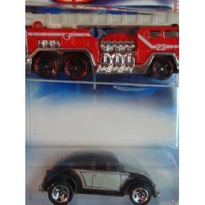 Hot Wheels 5 Alarm Fire Truck   Vw Beetle 5 Spoke Scale 1