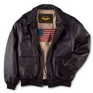 Mens Air Force A 2 Flight Leather Bomber Jacket Clothing