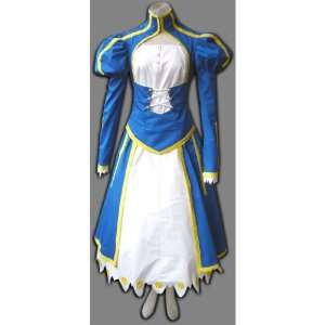 Japanese Anime Fate Stay Night Cosplay Costume   Blue Saber Swordsman