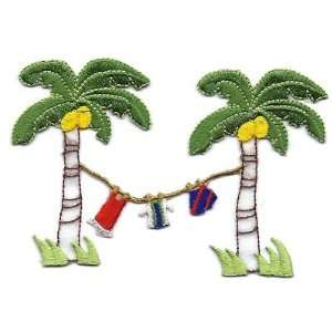 Clothesline   Beach/Vacation/Tropical  Iron On Embroidered Applique