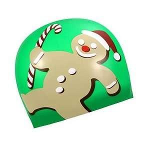 Sporti Gingerbread Man Silicone Swim Cap