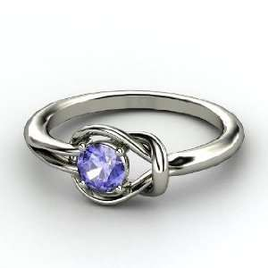 Hercules Knot Ring, Round Tanzanite Sterling Silver Ring Jewelry