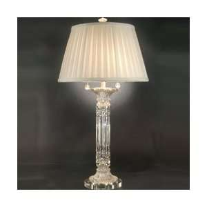 Tiffany GT70692 Crystal Table Lamp, Brushed Nickel and Fabric Shade