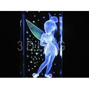 Disney Tinkerbell Standing with Pixie Dust 3D Laser Etched