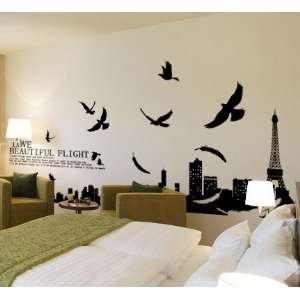Tower living room removable quote vinyl wall decals stickers XY1002