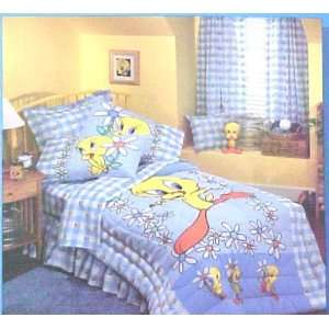 Looney Tunes Tweety Bird Blues Full Size and Bedskirt