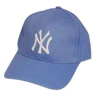 MLB NEW YORK YANKEES LIGHT BLUE WHITE BASEBALL HAT CAP