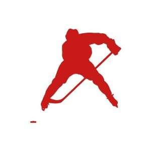 Hockey RED vinyl window decal sticker