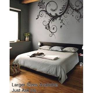 Vinyl Wall Art Decal Sticker Swirl Flower Floral Design #262 (100 X
