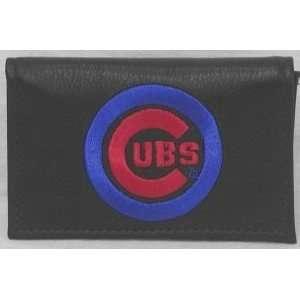 MLB CHICAGO CUBS BASEBALL LEATHER TEAM LOGO WALLET