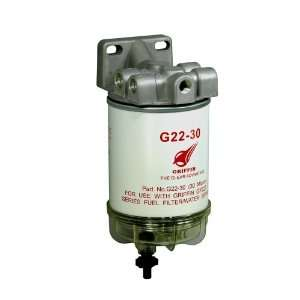 Griffin G227 30 Spin On Fuel Filter / Water Separator Automotive