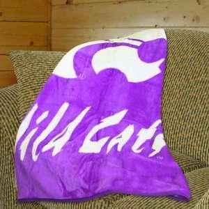 Kansas State Wildcats 50x60 Stripes Series Royal Plush Blanket Throw