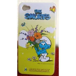 Apple Iphone 4 4S The Smurfs Flower Design Yellow Back Case Only