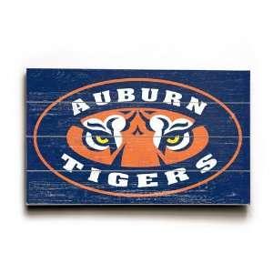Auburn University, Tiger Eyes Wood Sign (23 x 14)