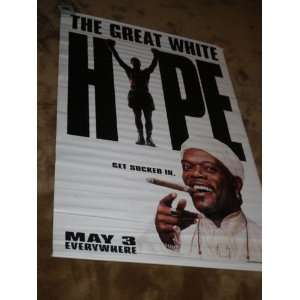 THE GREAT WHITE HYPE Movie Theater Display Banner
