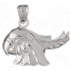 White Gold Pendant Cockateel Bird 2.7   Gram(s) CleverSilver Jewelry